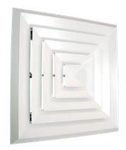 bevel edge square diffuser