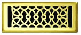 Brass plated floor grill