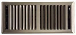 Brushed Nickel floor grill
