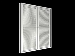 vented Louvered door