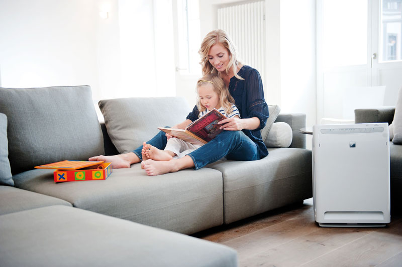 air purifier in lounge